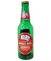 Bierfles met dobbel duel spel trend