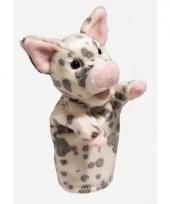 Biggetje varkens handpop 28 cm trend