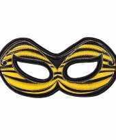 Bijen oogmasker geel voor kinderen trend