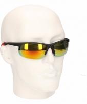 Bikers zonnebrillen met rood geele glazen trend