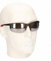 Bikers zonnebrillen met zwart oranjee glazen trend