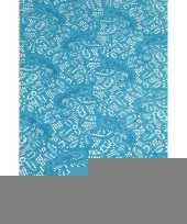 Binnen tafelloper aqua blauw anti slip 150 x 40 cm trend