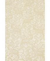 Binnen tafelloper beige anti slip 150 x 40 cm trend