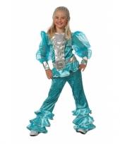 Blauw abba kostuum voor kids trend