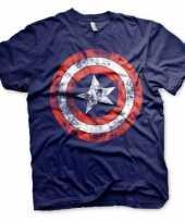 Blauw captain america t-shirt trend