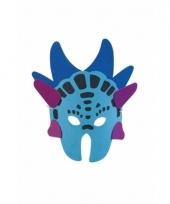 Blauw dinosaurus masker 18 cm trend