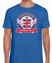 Blauw engeland drinking team t-shirt heren trend