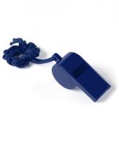 Blauw fluitje aan koord trend