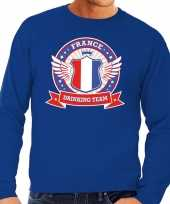 Blauw france drinking team sweater heren trend