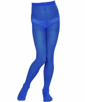Blauw gekleurde panty voor kids trend