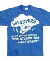 Blauw hangovers t-shirt trend