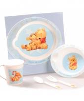 Blauw kinder servies van winnie de pooh trend