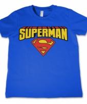 Blauw kinder t-shirt superman trend