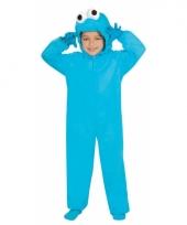 Blauw koekjes monster pak voor kinderen trend