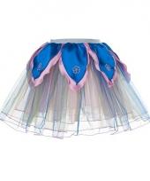 Blauw met roze fee verkleed tutu voor meiden trend