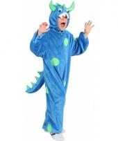 Blauw monster pak voor kinderen trend