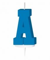 Blauw naam kaarsje letter a trend