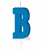 Blauw naam kaarsje letter b trend