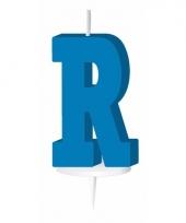 Blauw naam kaarsje letter r trend