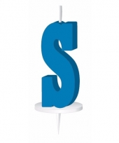 Blauw naam kaarsje letter s trend