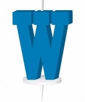 Blauw naam kaarsje letter w trend