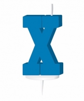 Blauw naam kaarsje letter x trend