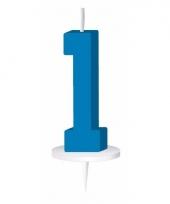 Blauw nummer kaarsje cijfer 1 trend