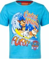 Blauw paw patrol t-shirt voor kinderen trend