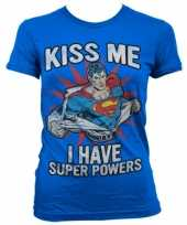Blauw superman girly t-shirt trend