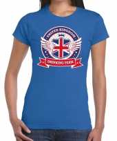 Blauw united kingdom drinking team t-shirt dames trend