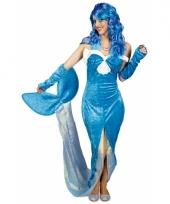 Blauw zeemeermin kostuum voor dames trend