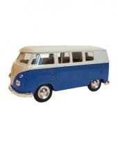 Blauwe 1962 hippiebus speelgoedauto 15 cm trend