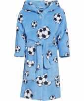 Blauwe badjas voetbal voor jongens trend