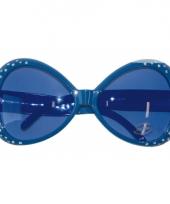 Blauwe brillen met diamantjes trend