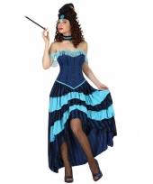 Blauwe burlesque verkleedjurk trend