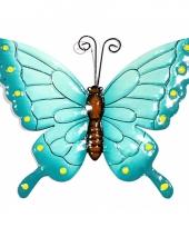 Blauwe decoratie vlinder 22 cm trend