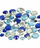 Blauwe diamanten stenen rond trend