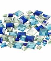 Blauwe diamanten stenen vierkant trend