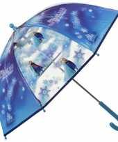 Blauwe disney frozen paraplu meisjes 70 cm trend
