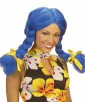 Blauwe dolly pruik voor dames trend