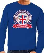 Blauwe engeland drinking team sweater heren trend