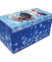 Blauwe frozen disney speelgoed opbergbox 76 cm trend