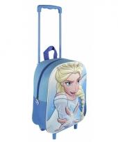 Blauwe frozen handbagage koffer voor kinderen trend