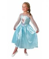 Blauwe frozen jurk voor kids trend
