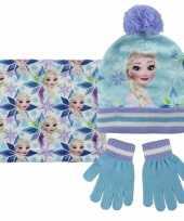 Blauwe frozen winterset voor meisjes trend