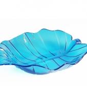 Blauwe fruit schaal 32 cm trend