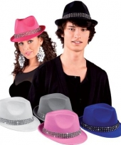 Blauwe hoedjes met diamantjes trend