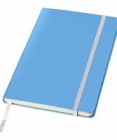 Blauwe kantoor notittie boek a5 trend