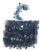 Blauwe kerstversiering folie slinger met ster 700 cm trend
