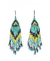 Blauwe kralen oorbellen trend